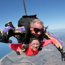 Women-Sowing-Thumbs-up-while-doing-Skydiving
