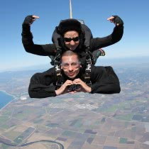 Men-Showing-Sign-of-Heart-while-Doing-Skydiving