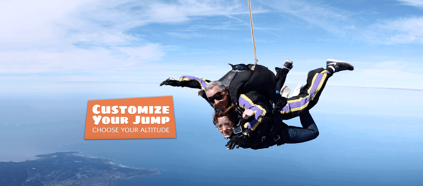 Tandem Skydiving Package - Stress Free Training & Discount