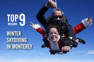 Top 9 Reasons To Skydive Near San Francisco in Winter